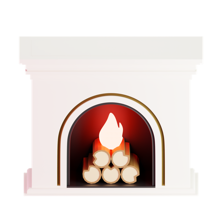 Fire Place 3D Illustration
