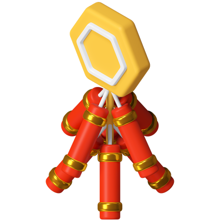 Firecrackers 3D Illustration