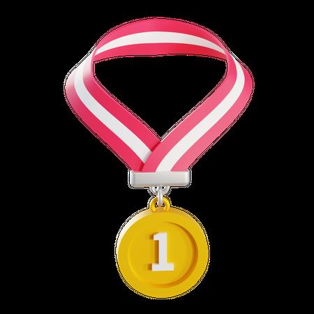 First Place Medal 3D Illustration
