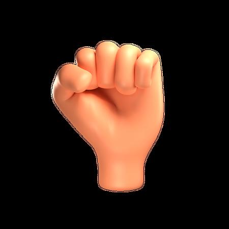 Fist 3D Illustration