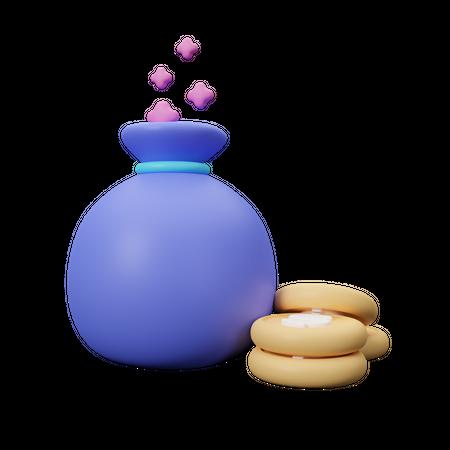 Fixed deposit 3D Illustration