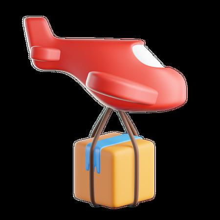 Flight Delivery 3D Illustration