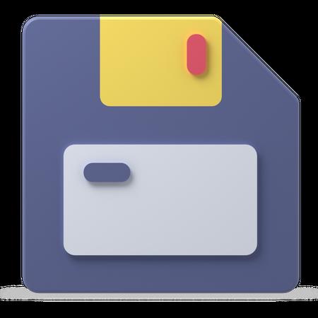 Floppy Disk 3D Illustration