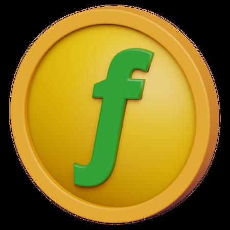 Florin Coin 3D Illustration