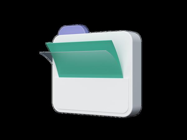 Folder 3D Illustration
