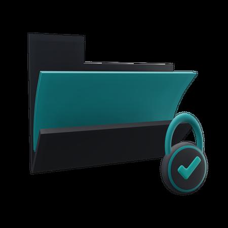 Folder Security 3D Illustration