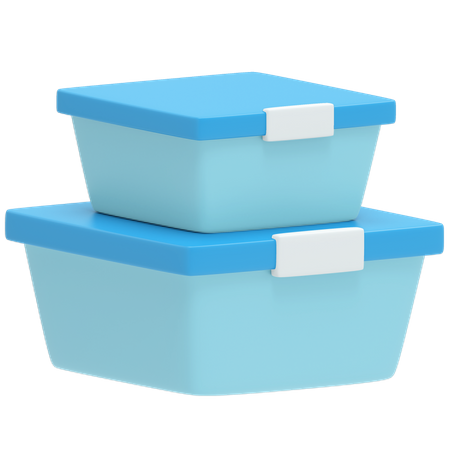 Food Container 3D Illustration