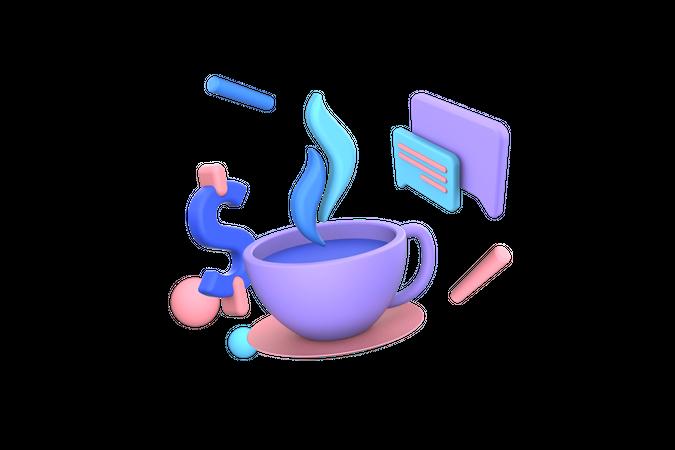 Food order and menu 3D Illustration