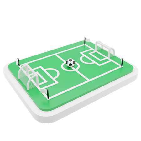 Football field 3D Illustration