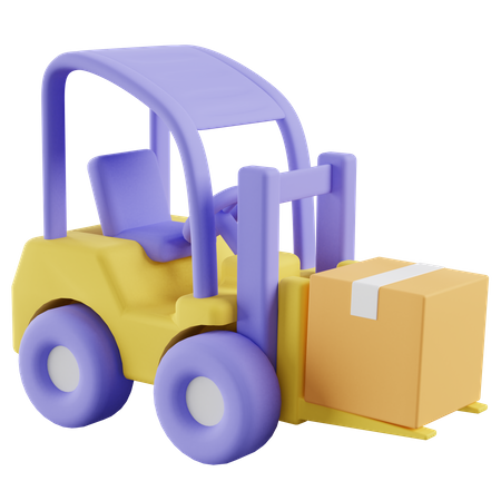 Forklift 3D Illustration