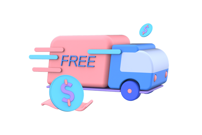 Free Shipping 3D Illustration