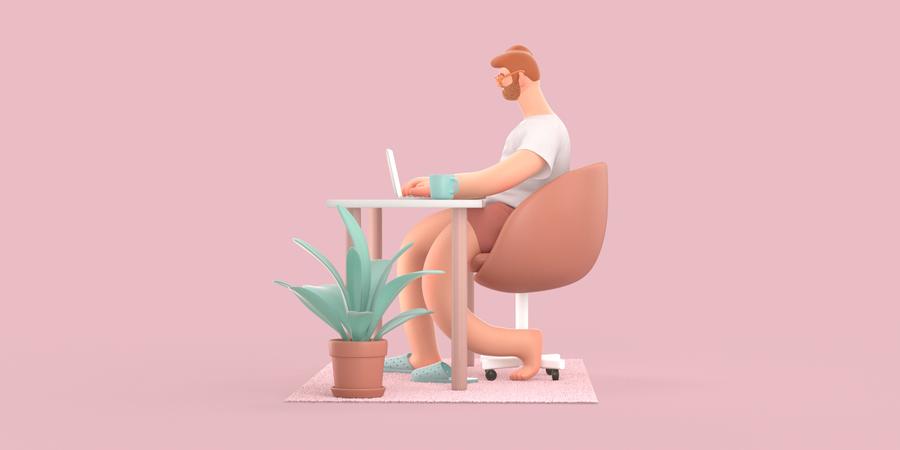 Freelancer 3D Illustration