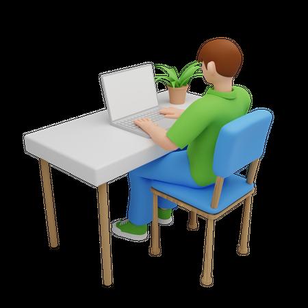 Freelancer working on project 3D Illustration