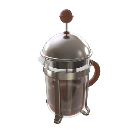 French press coffee maker 3D Illustration