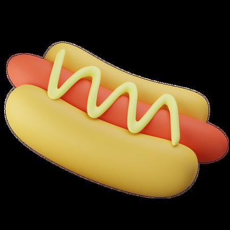 Fresh Hotdog 3D Illustration