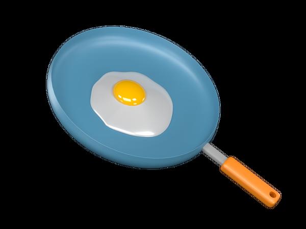 Frying Pan 3D Illustration