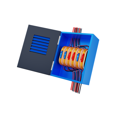 Fuse Box 3D Illustration