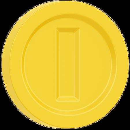 Game Coin 3D Illustration