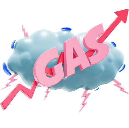 GAS up 3D Illustration