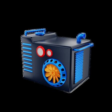 Generator 3D Illustration