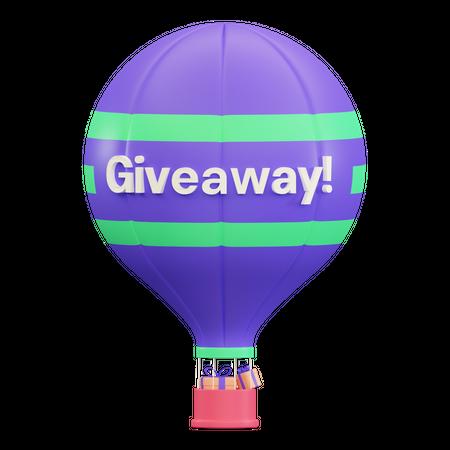 Gift Balloon 3D Illustration