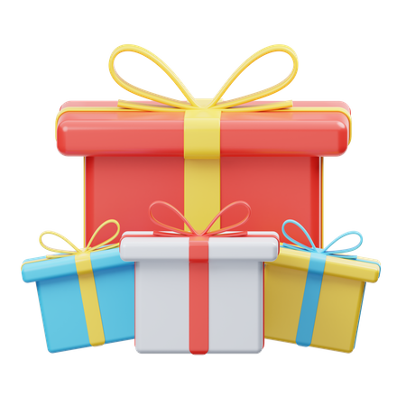 Gift Boxes 3D Illustration