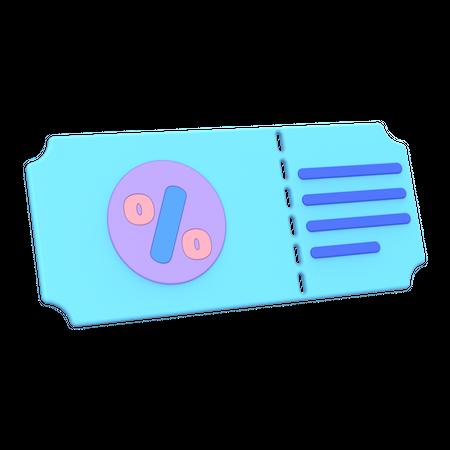 Gift voucher 3D Illustration