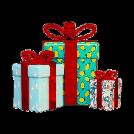 Gifts 3D Illustration
