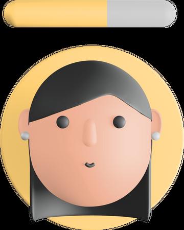 Girl avatar 3D Illustration