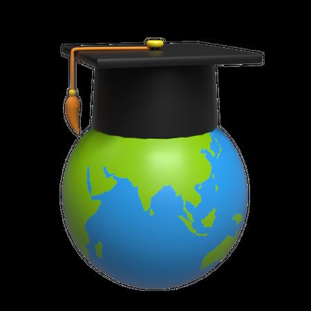 Global Education 3D Illustration