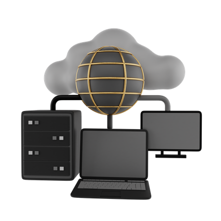 Global Network 3D Illustration