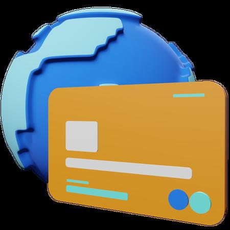 Global Payment 3D Illustration