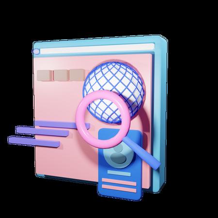 Global Seo 3D Illustration