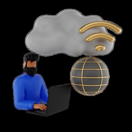 Global Wifi 3D Illustration