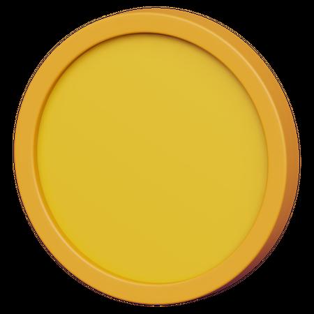Gold Coin 3D Illustration
