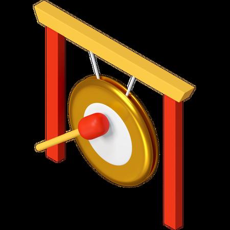 Gong 3D Illustration