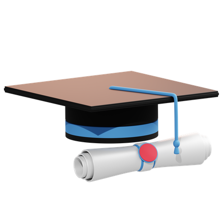 Graduate Degree 3D Illustration