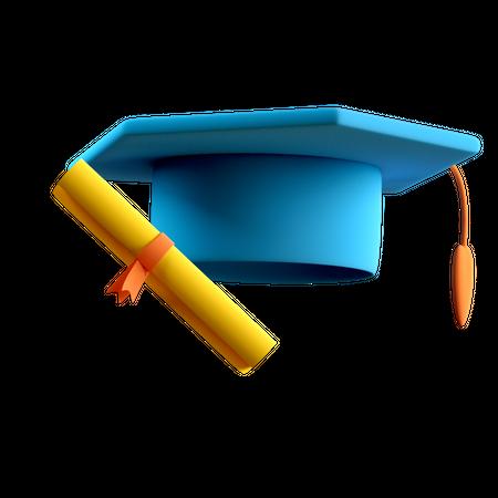 Graduation 3D Illustration