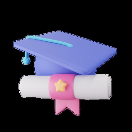 Graduation Hat 3D Illustration