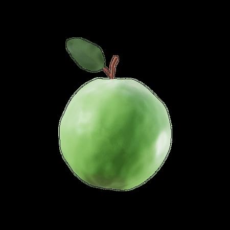 Green Apple 3D Illustration