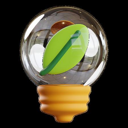 Green electricity 3D Illustration
