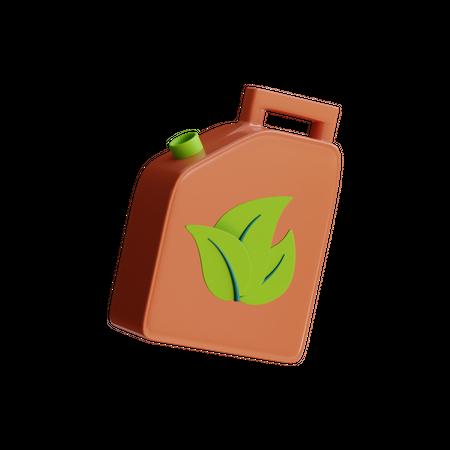 Green Fuel 3D Illustration