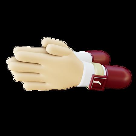 Greeting gesture 3D Illustration