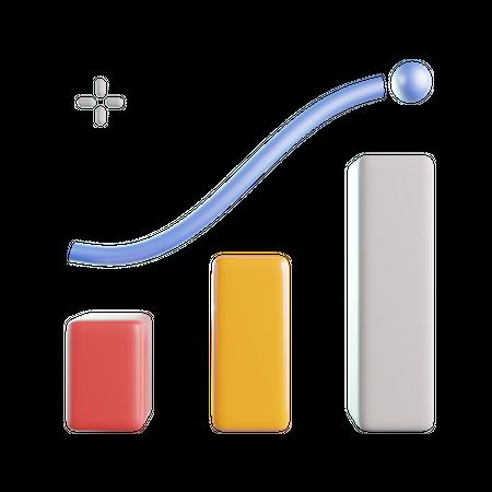 Growth Graph 3D Illustration