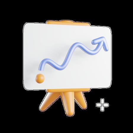 Growth Presentation 3D Illustration