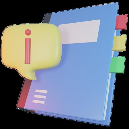 Guide Book 3D Illustration