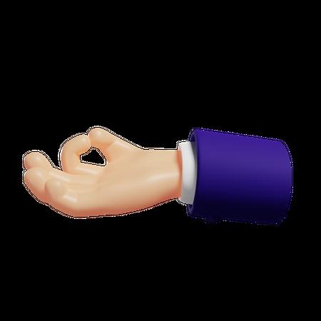 Gyan mudra hand gesture 3D Illustration