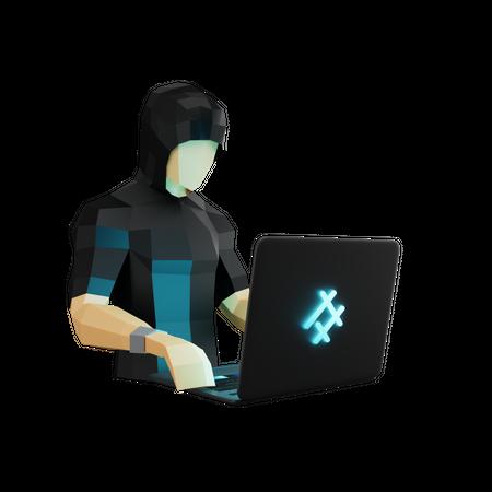 Hacker 3D Illustration