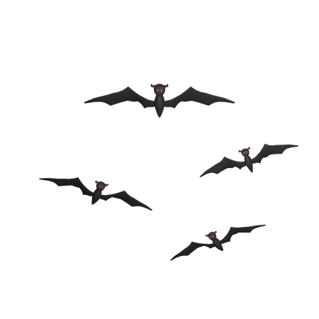 Halloween Bat 3D Illustration
