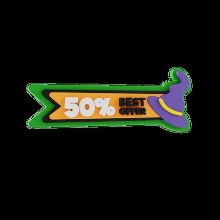 Halloween Best Offer 3D Illustration